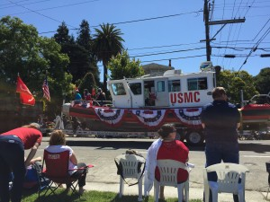 The US Marine Corp moved their boat onto the land!